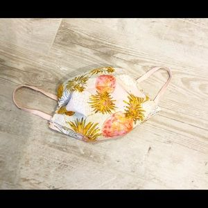 Pineapple Fabric Face Mask